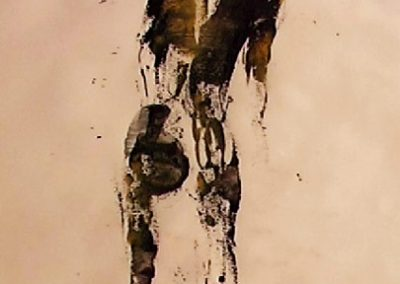 Standing nude - chinese ink