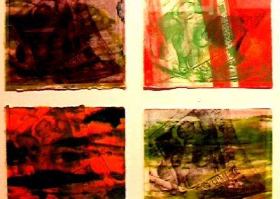 page 3 girl - 4 monoprints